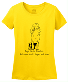 Ladies Yellow Boys, Girls, & Poodles = Kids - Poodle Dog Parent Lover Cute Fun T-shirt