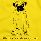 BOYS, GIRLS, & PUGS = KIDS Yellow Art Preview