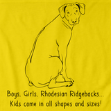 BOYS, GIRLS, & RHODESIAN RIDGEBACKS = KIDS Yellow Art Preview