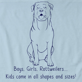BOYS, GIRLS, & ROTTWEILERS Light blue Art Preview