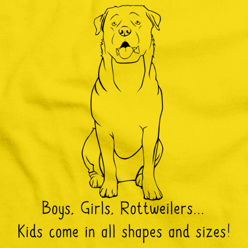 Boys, Girls, & Rottweilers Yellow Art Preview