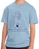 Youth Light Blue Boys, Girls, & Soft Coated Wheaten Terriers = Kids T-shirt