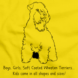 BOYS, GIRLS, & SOFT COATED WHEATEN TERRIERS = KIDS Yellow Art Preview