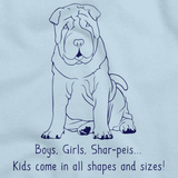 BOYS, GIRLS, & SHAR-PEIS = KIDS Light blue Art Preview