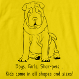 Boys, Girls, & Shar Peis = Kids Yellow Art Preview