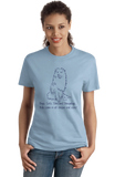 Ladies Light Blue Boys, Girls, & Shetland Sheepdogs = Kids - Sheltie Owner Parent T-shirt
