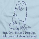 Boys, Girls, & Shetland Sheepdogs = Kids Light blue art preview