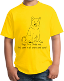 Youth Yellow Boys, Girls, & Shiba Inus = Kids - Shiba Inu Owner Parent Lover T-shirt