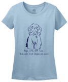 Ladies Light Blue Boys, Girls, & Shih Tzus - Shih Tzu Owner Lover Parent Funny T-shirt