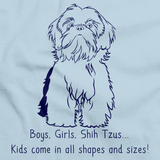 BOYS, GIRLS, & SHIH TZUS Light blue Art Preview