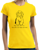 Ladies Yellow Boys, Girls, & Shih Tzus - Shih Tzu Owner Lover Parent Funny T-shirt