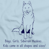 BOYS, GIRLS, & SIBERIAN HUSKYS Light blue Art Preview