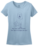 Ladies Light Blue Boys, Girls, & Saint Bernards = Kids - St. Bernard Parent Owner T-shirt