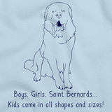 BOYS, GIRLS, & SAINT BERNARDS = KIDS Light blue Art Preview