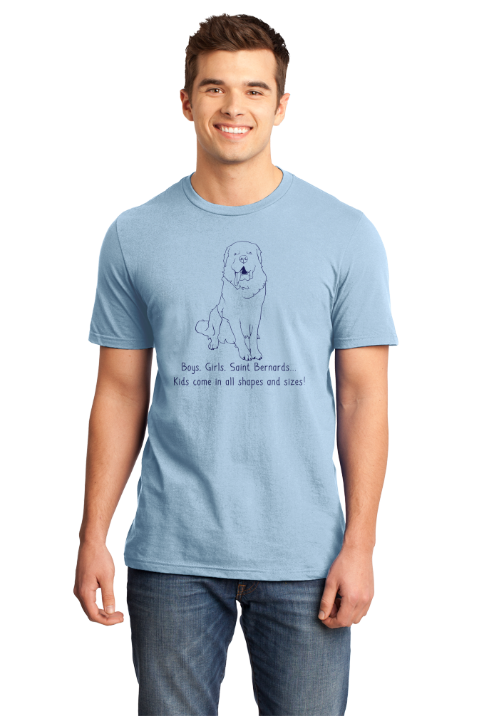 Standard Light Blue Boys, Girls, & Saint Bernards = Kids - St. Bernard Parent Owner T-shirt