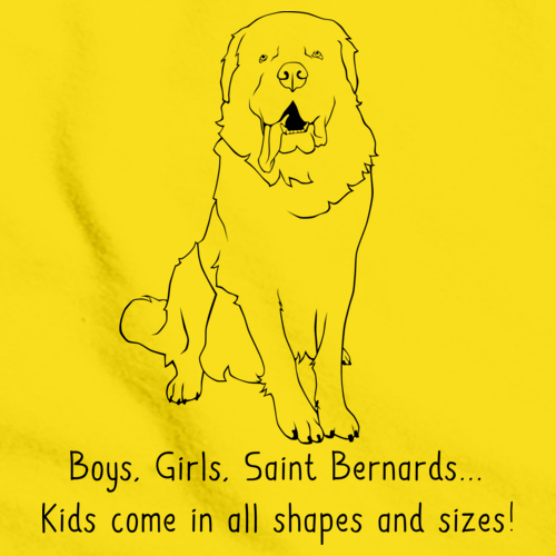 BOYS, GIRLS, & SAINT BERNARDS = KIDS Yellow Art Preview