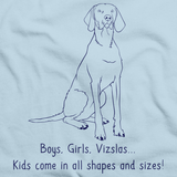 BOYS, GIRLS, & VIZSLAS = KIDS Light blue Art Preview