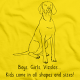 BOYS, GIRLS, & VIZSLAS = KIDS Yellow Art Preview