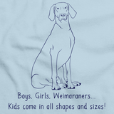 BOYS, GIRLS, & WEIMARANERS = KIDS Light blue Art Preview