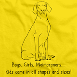 BOYS, GIRLS, & WEIMARANERS = KIDS Yellow Art Preview