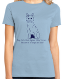Ladies Light Blue Boys, Girls, & West Highland White Terriers = Kids - Westie Dog T-shirt