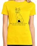 Ladies Yellow Boys, Girls, & West Highland White Terriers = Kids - Westie Dog T-shirt