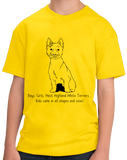 Youth Yellow Boys, Girls, & West Highland White Terriers = Kids - Westie Dog T-shirt