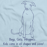 BOYS, GIRLS, & WHIPPETS = KIDS Light blue Art Preview