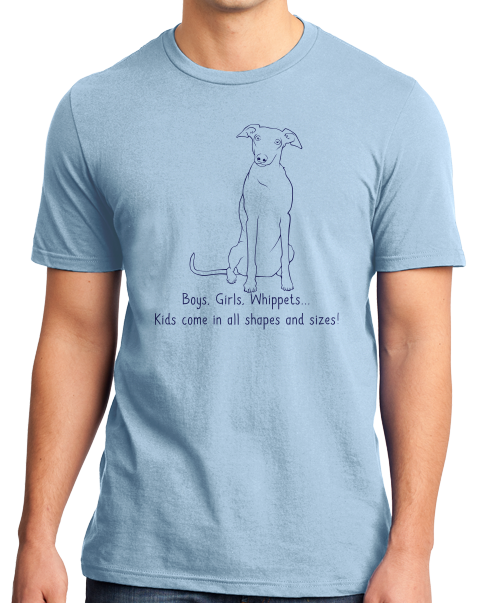 Standard Light Blue Boys, Girls, & Whippets = Kids - Whippet Owner Lover Parent Cute T-shirt