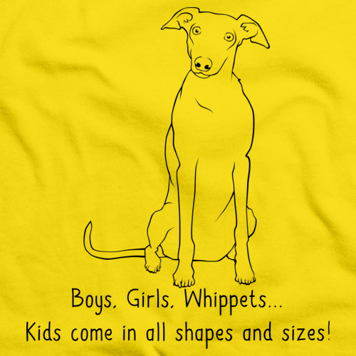 Boys, Girls, & Whippets = Kids Yellow Art Preview