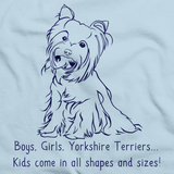 BOYS, GIRLS, & YORKIES Light blue Art Preview