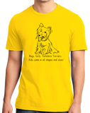 Standard Yellow Boys, Girls, & Yorkies - Yorkie Parent Owner Lover Cute Funny T-shirt
