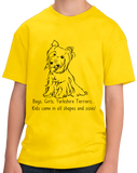 Youth Yellow Boys, Girls, & Yorkies - Yorkie Parent Owner Lover Cute Funny T-shirt