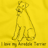 I Love My Airedale Terrier Yellow Art Preview