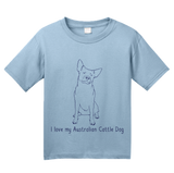 Youth Light Blue I Love my Australian Cattle Dog - Cattle Dog Owner Lover Cute T-shirt