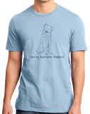 Standard Light Blue I Love my Australian Shepherd - Aussie Love Owner Parent Cute T-shirt