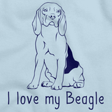 I Love My Beagle Light blue Art Preview