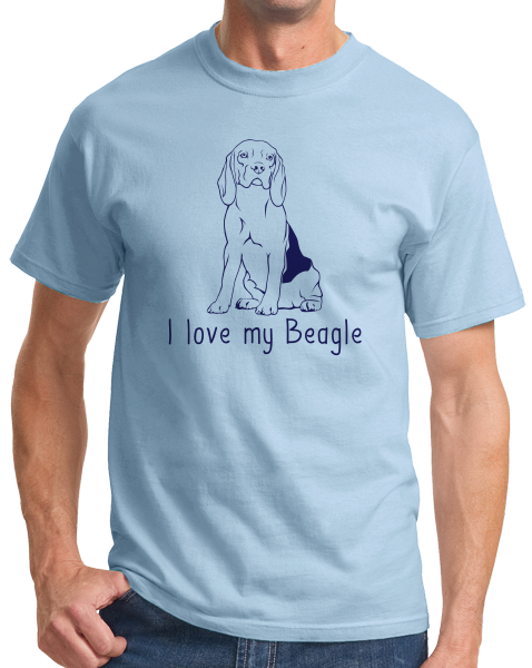 Standard Light Blue I Love my Beagle - Beagle Love Dog Owner Parent Cute Snoopy Fun T-shirt