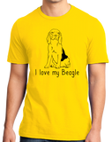 Standard Yellow I Love my Beagle - Beagle Love Dog Owner Parent Cute Snoopy Fun T-shirt