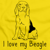 I Love My Beagle Yellow Art Preview