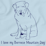 I Love My Bernese Mountain Dog Light blue Art Preview