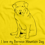 I Love My Bernese Mountain Dog Yellow Art Preview