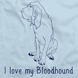 I Love My Bloodhound Light blue Art Preview