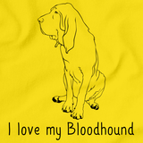 I Love My Bloodhound Yellow Art Preview