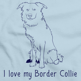 I Love My Border Collie Light blue Art Preview