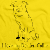 I Love My Border Collie Yellow Art Preview