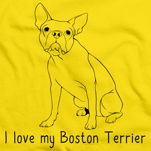 I Love my Boston Terrier Yellow art preview