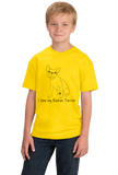 Youth Yellow I Love my Boston Terrier - Boston Terrier Cute Love Owner Parent T-shirt