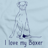 I Love My Boxer  Light blue Art Preview