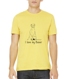 Standard Yellow I Love my Boxer - Boxer Dog Breed Owner Lover Parent Cute Unique T-shirt